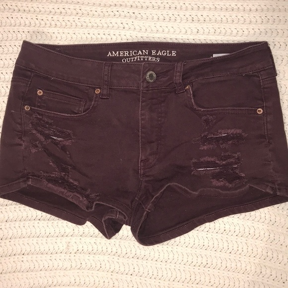 American Eagle Outfitters Pants - Maroon distressed American Eagle shorts